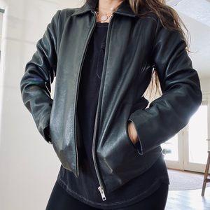 Coach Vintage Dark green Leather Jacket